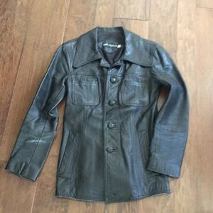 Vintage black lamb leather jacket byANNA GABELLI